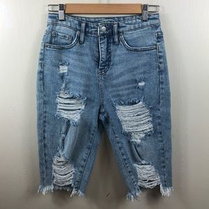Wild Fable Cutoff Jean Shorts NWOT Distressed Sz 2